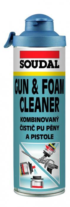 Soudal Kombinovaný čistič PU pěny a pistole Click & Fix 500ml