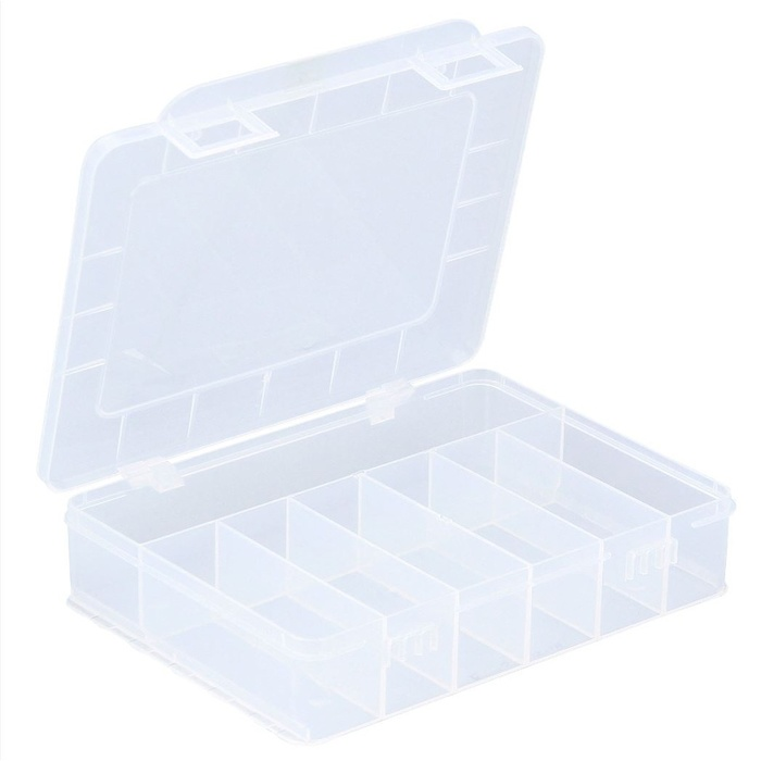 ALLIT Plastový kufřík s pevným vnitřním dělením EuroPlus Basic 18/7 457180