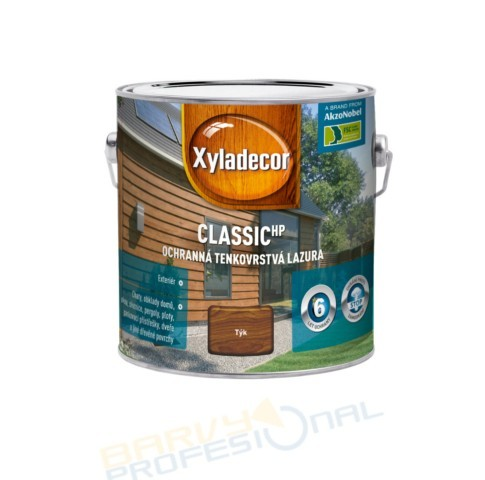 XYLADECOR CLASSIC 5L Barevný lazurovací prostředek na bázi rozpouštědel a alkydové pryskyřice