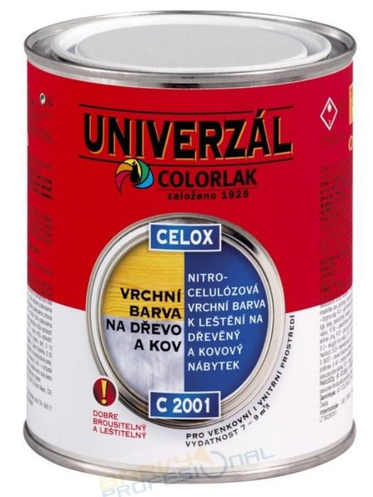 COLORLAK CELOX C 2001 / 0,75L nitrocelulózová vrchní barva na dřevěný a kovový nábytek