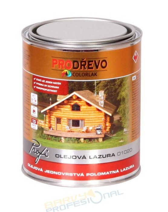 COLORLAK PROFI OLEJOVÁ LAZURA O 1020 / T0036 Tabák/ 2,5L olejová jednovrstvá polomatná lazura na dřevo