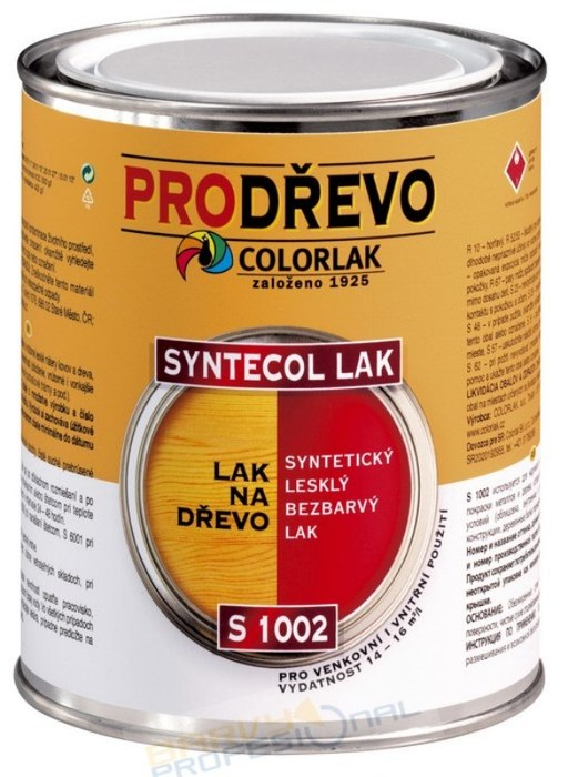 COLORLAK SYNTECOL LAK S 1002 / 9L syntetický lesklý bezbarvý lak