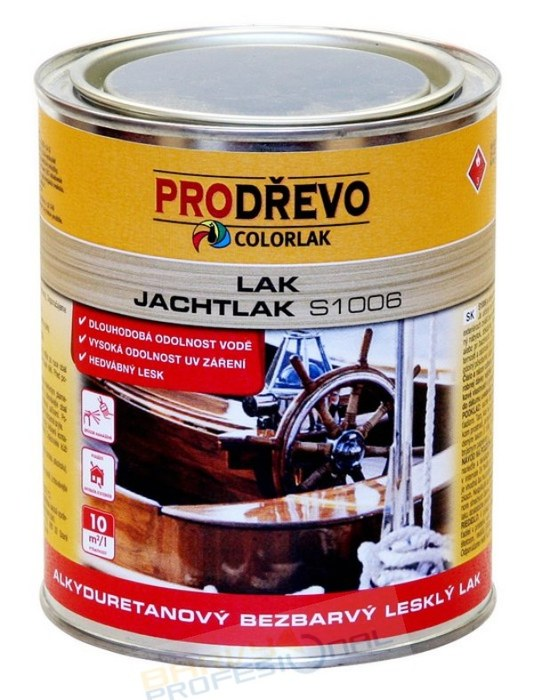 COLORLAK JACHTLAK S 1006 / 0,6L alkyduretanový bezbarvý lak s hedvábným leskem