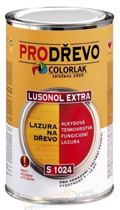 COLORLAK LUSONOL EXTRA S 1024 / T0000 Bezbarvý / 0,9L alkydová tenkovrstvá lazura