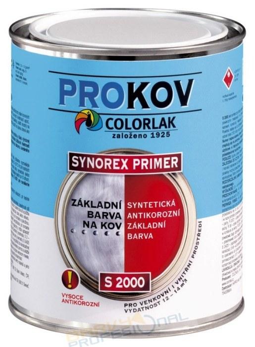 COLORLAK SYNOREX PRIMER S 2000 / C0110 Šedá / 0,6L syntetická antikorozní základní barva