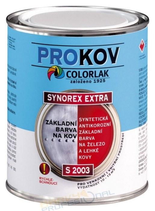 COLORLAK SYNOREX EXTRA S 2003 / C0110 Šedá / 0,6L syntetická antikorozní základní barva na železo a lehké kovy