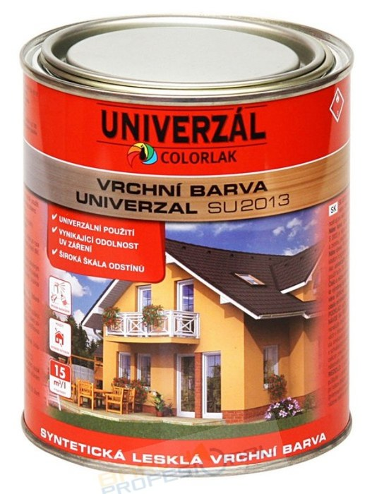COLORLAK UNIVERZAL SU 2013 / C4550 Modrá návěstní / 3,5L syntetická lesklá vrchní barva