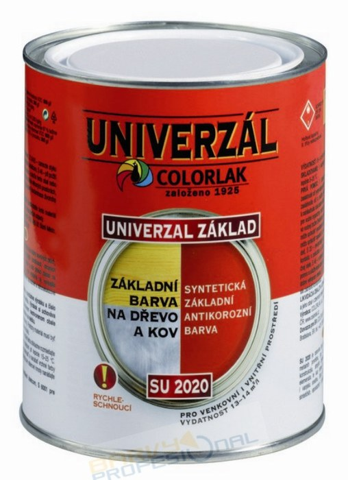 COLORLAK UNIVERZAL ZÁKLAD SU 2020 / C0100 Bílá / 3,5L syntetická základní univerzální antikorozní barva