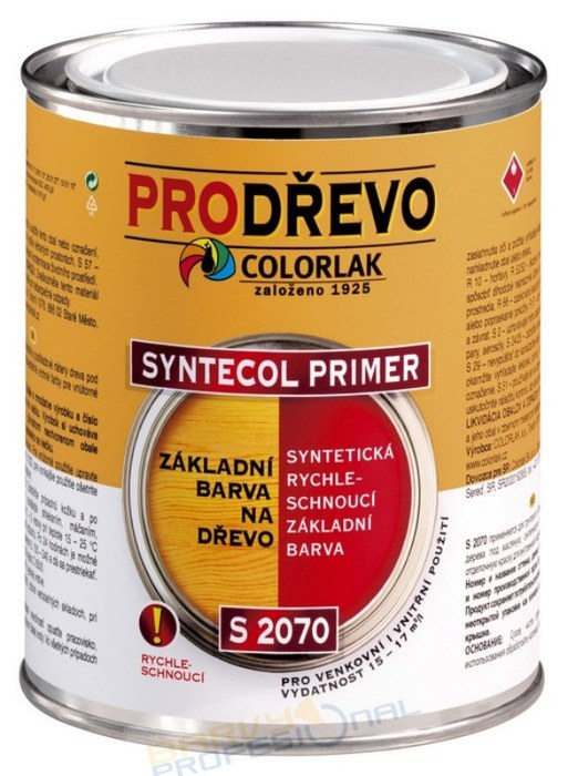 COLORLAK SYNTECOL PRIMER S 2070 / C0603 Slonová kost / 0,6L syntetická rychleschnoucí základní barva