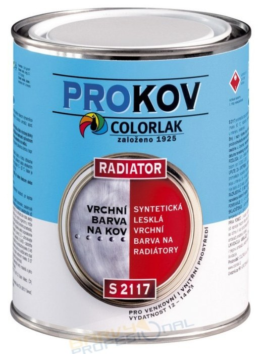 COLORLAK RADIATOR S 2117 / C1000 Bílá / 0,6L syntetická vrchní barva na radiátory, lesklá