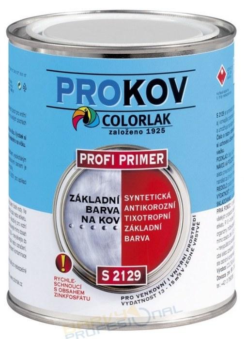 COLORLAK PROFI PRIMER S 2129 / C0110 Šedá / 0,6L syntetická základní antikorozní barva, tixotropní