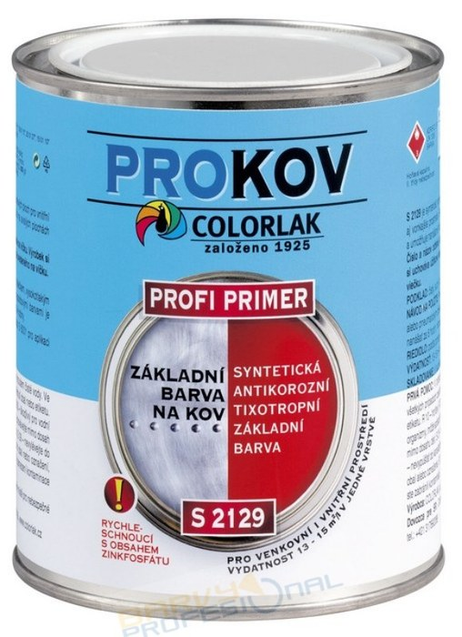 COLORLAK PROFI PRIMER S 2129 / C0110 Šedá / 3,5L syntetická základní antikorozní barva, tixotropní