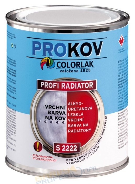 COLORLAK PROFI RADIATOR S 2222 / C1000 Bílá / 3,5L alkyduretanová lesklá vrchní barva na radiátory