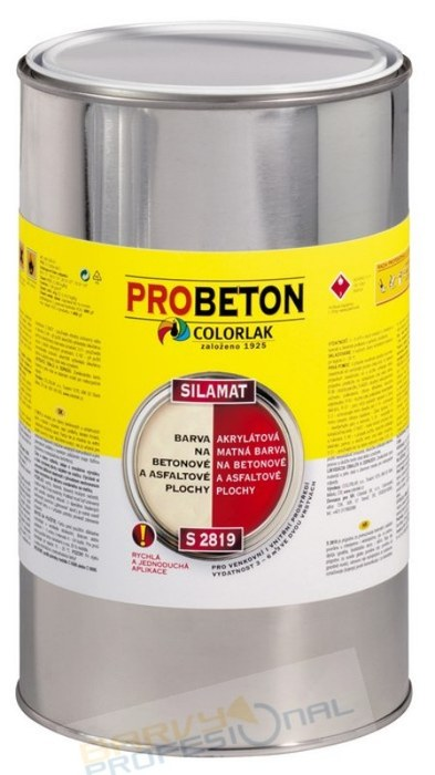 COLORLAK SILAMAT S 2819 / C0100 Bílá / 9L akrylátová barva na betonové a asfaltové plochy, mat