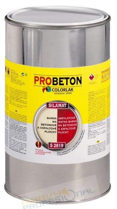 COLORLAK SILAMAT S 2819 / C0814 Červená / 3,5L akrylátová barva na betonové a asfaltové plochy, mat