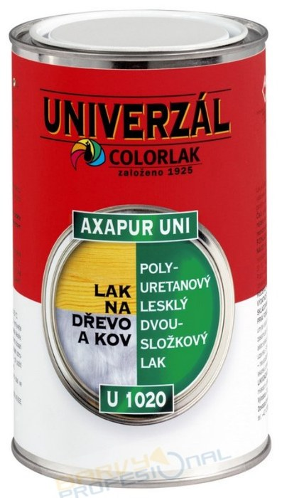 COLORLAK AXAPUR UNI U 1020 / 1Kg polyuretanový lesklý dvousložkový lak