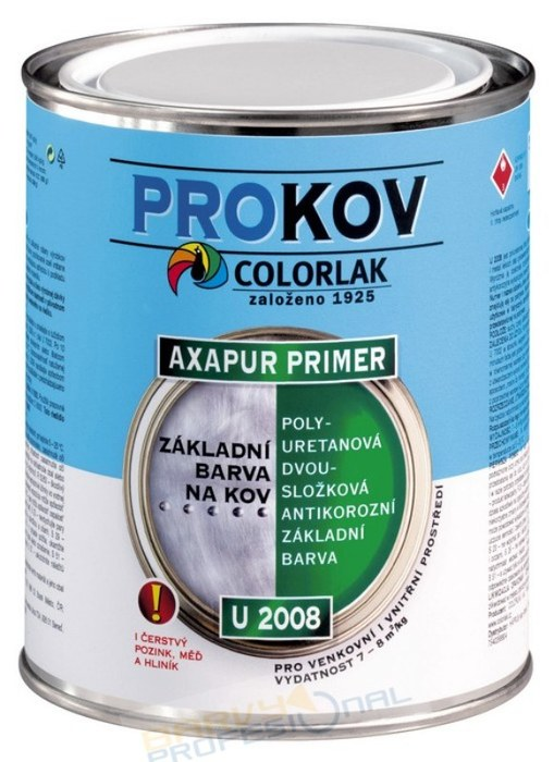 COLORLAK AXAPUR PRIMER U 2008 / C0100 Bílá / 0,8Kg polyuretanová dvousložková antikorozní základní barva