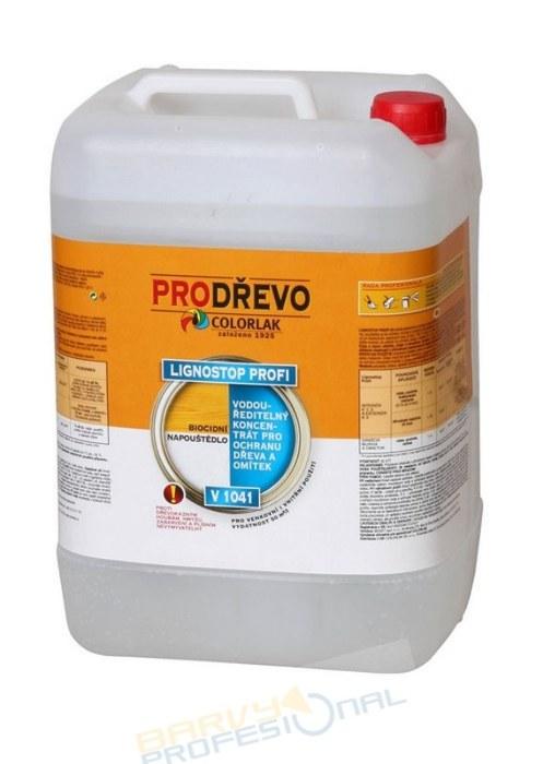 COLORLAK LIGNOSTOP PROFI V 1041 /C0000 Bezbarvý/ 10L nevymývatelný,biocidní přípravek k ochraně dřeva,zdiva před houbami, plísněmi,škůdci