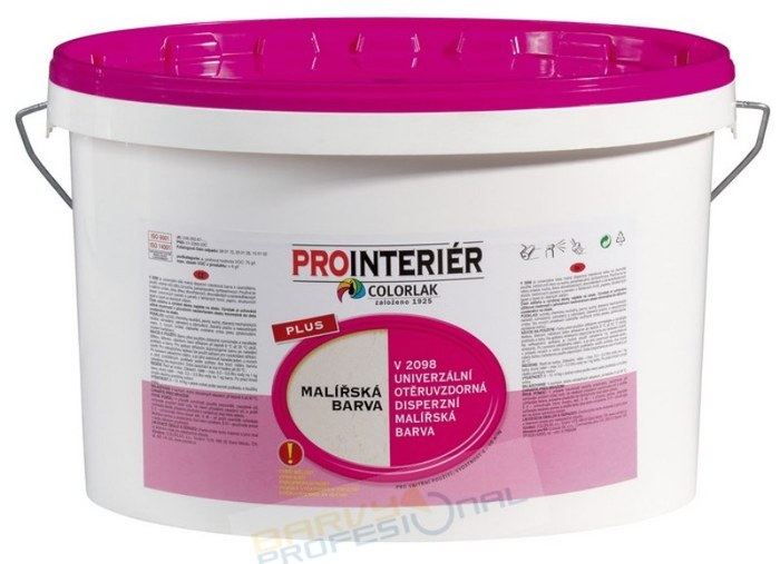 COLORLAK PLUS V 2098 / C0100 Bílá / 15Kg malířská barva disperzní