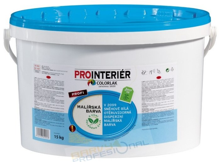 COLORLAK PROFI V 2099 / C0100 Bílá / 5kg malířská barva disperzní