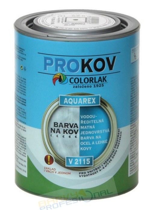 COLORLAK AQUAREX V 2115 / RAL 7002 Šedá / 0,6L vodouředitelná matná jednovrstvá barva na ocel a lehké kovy