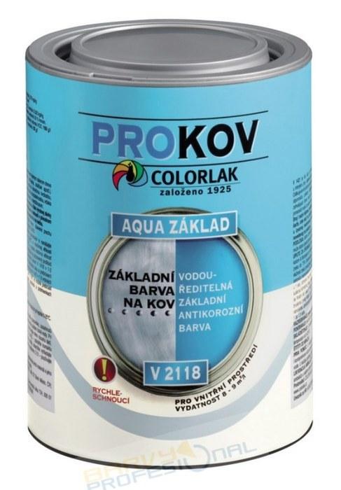 COLORLAK AQUA ZÁKLAD V 2118 / C0840 Červenohnědá / 0,6L vodouředitelná antikorozní základní barva