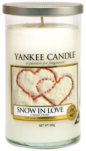 YANKEE CANDLE VONNÁ SVÍČKA SNOW IN LOVE DÉCOR STŘEDNÍ