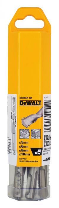 DeWALT DT60301 5 dílná sada SDS-plus vrtáků
