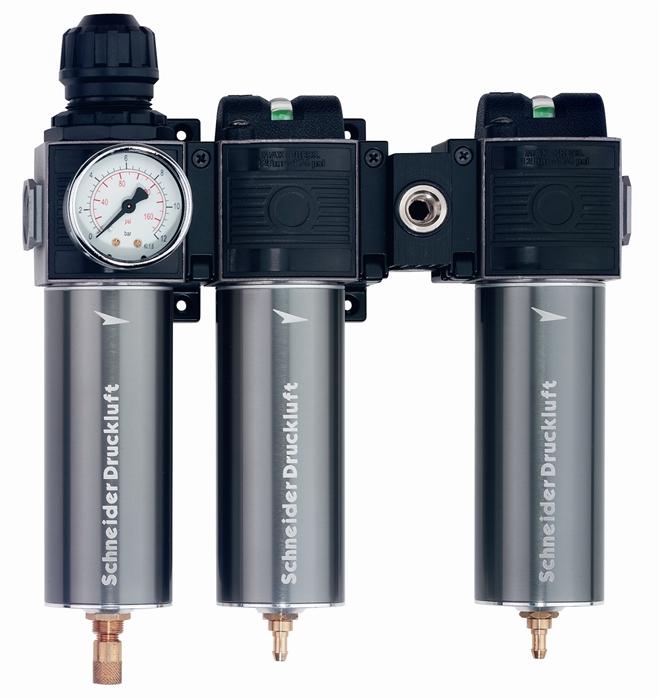SCHNEIDER Úpravná jednotka 3-jitá s mikrofitlrem a aktivním uhlím WE-FDM/FF/AF1/2
