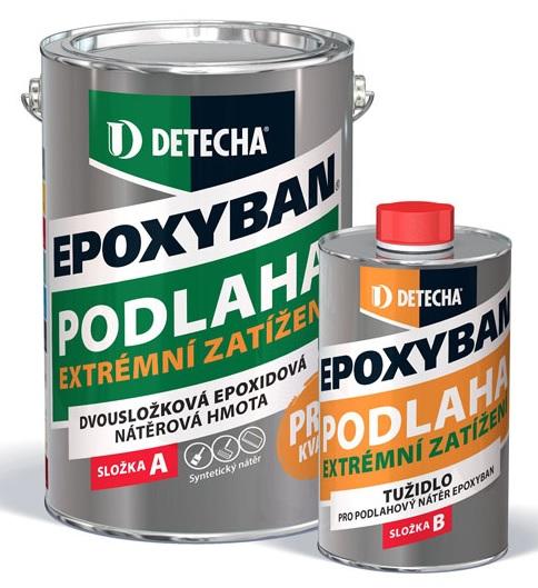 Detecha EPOXYBAN 2,5Kg lesklý dvousložkový epoxidový nátěr pro betonové podlahy s vysokou mechanickou zátěží