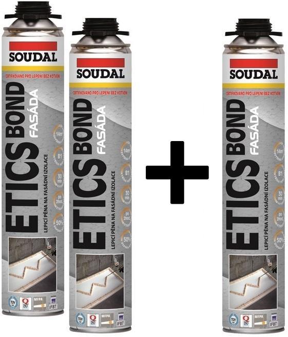 Soudal Etics Bond PU 800ml -12Ks BALENÍ + 1Ks ZDARMA lepící pěna na polystyren