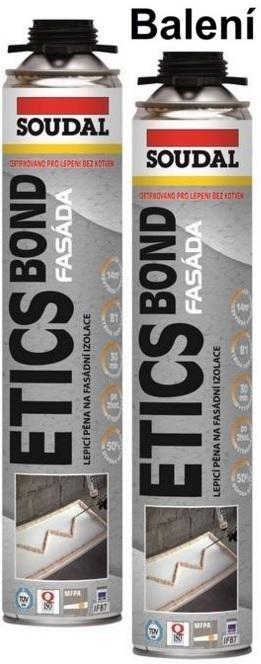 Soudal Etics Bond PU 800ml - 12Ks BALENÍ lepící pěna na polystyren AKCE PROSINEC!