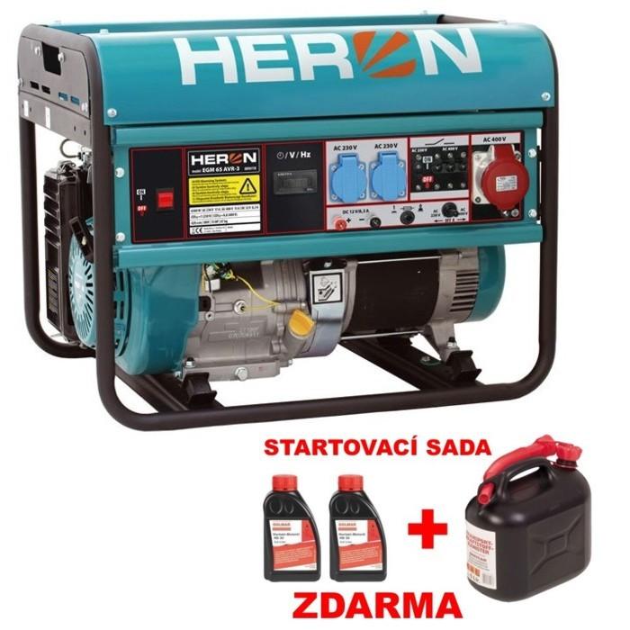 HERON EGM 65 AVR-3 elektrocentrála benzínová 8896118