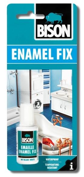 Bison Enamel Fix 20g blistr - Studený smalt na opravu smaltovaných předmětů, opravu van