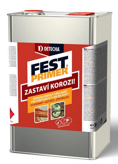 Detecha Fest Primer 3Kg základní polyuretanový nátěr na kov se zbytky koroze a mnohé jiné povrchy