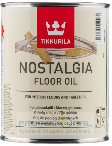 Tikkurila Nostalgia Floor Oil tvrdý voskový olej na podlahy a dřevo v interiéru 1L