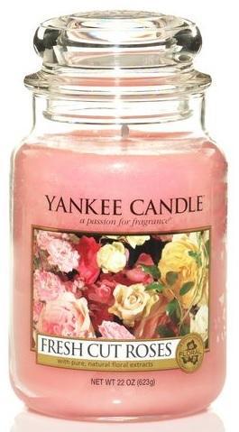 Vonná Svíčka YANKEE CANDLE Fresh Cut Roses CLASSIC VELKÝ Čerstvě nařezané růže
