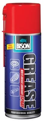 Bison Grease Spray 400ml - bílý mazací tuk na bázi PTFE