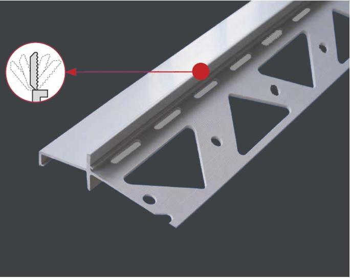 EUROPROFIL DIFEXX H 14 ukončovací profil 14 mm PVC 2,5 m - ukončovací profil při pokládání obkladů n