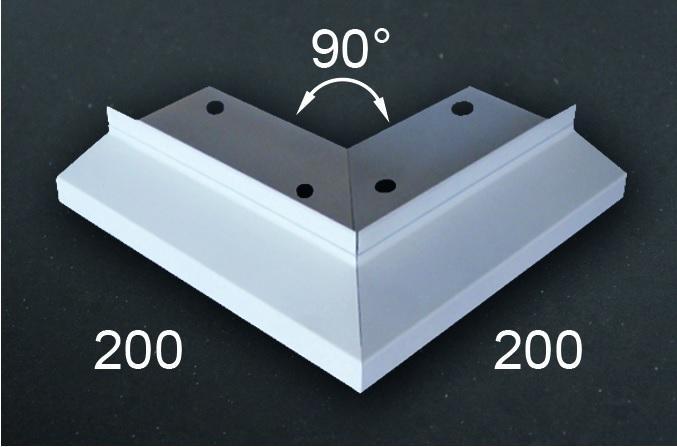 EUROPROFIL Rohový segment vnější DIFEXX H14 (90°) PVC - pro rohové spojení profilů H14 pro balkony a