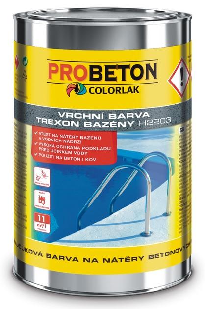 COLORLAK TREXON BAZÉNY H 2203 / C0400 Modrá / 9L chlorkaučuková barva na nátěry betonových bazénů