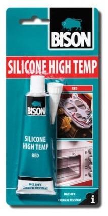 Bison Silicone High Temp Red 60ml tuba - Vysokoteplotní silikonový tmel
