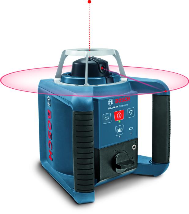 Bosch Stavební rotační laser + stativ + měřicí lať GRL 300 HV set + BT 300 HD + GR 240