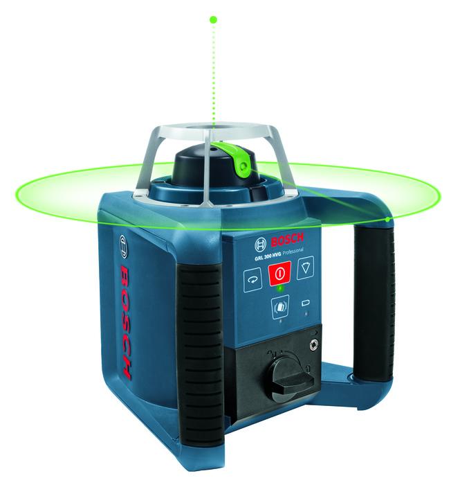 Bosch Stavební rotační laser + stativ + měřicí lať GRL 300 HVG set + BT 300 HD + GR 240