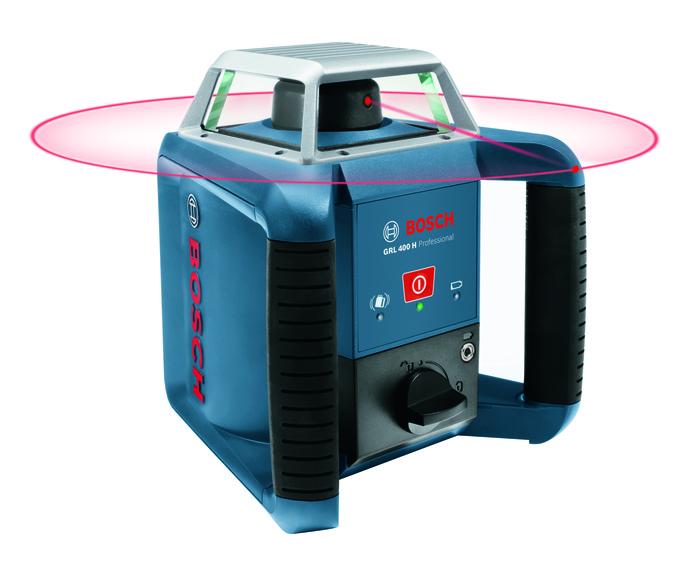 Bosch Stavební rotační laser + stativ + měřicí lať GRL 400 H set + BT 170 + GR 240