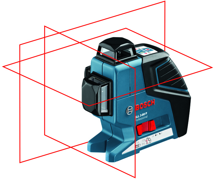 Bosch Křížový laser + stativ GLL 3-80 + BT 250 Professional