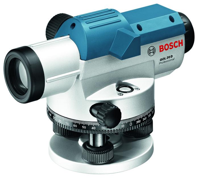 Bosch GOL 20 D Professional + BT 160 + GR 500 Optický nivelační přístroj + stativ + měřicí lať