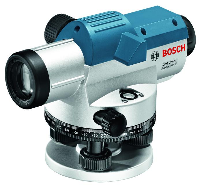 Bosch GOL 20 G Professional + BT 160 + GR 500 Optický nivelační přístroj + stativ + měřicí lať