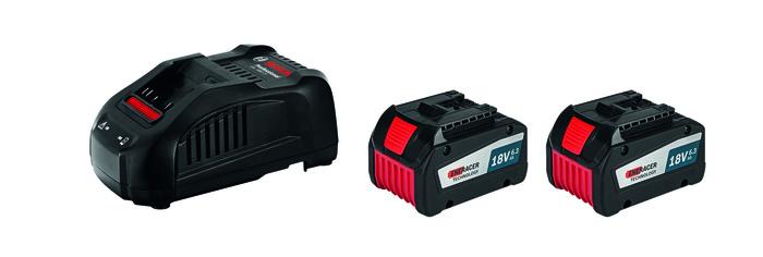 Bosch 2x GBA 18V 6,3 Ah + GAL 1880 CV Akumulátor + nabíječka