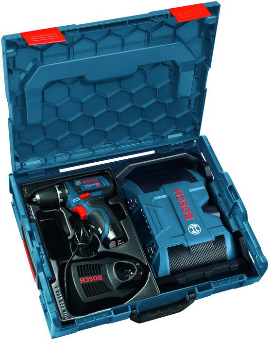 Bosch GSR 12V-15 + GPB 12V-10 Vrtací šroubovák + aku rádio